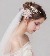 森女系列的新娘发饰 超美的新娘发饰