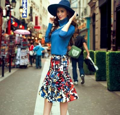 张萌巴黎街头时尚写真